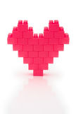 Heart made from toy bricks Stock Photography