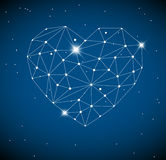 Heart made from triangles as constellation Stock Photo