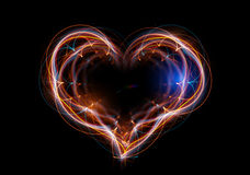 The heart made up of abstract energy. Stock Photos