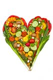 A heart made of vegetables. healthy eating Royalty Free Stock Images