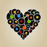 Vinyl heart Stock Image