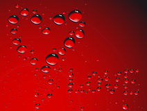 Heart made from waterdrops Stock Photos