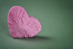 Heart made from yarn Royalty Free Stock Photo