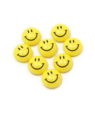 Heart made of yellow smileys Royalty Free Stock Image