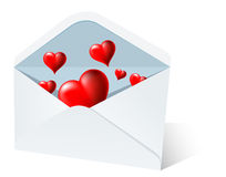 Heart mail Stock Photo
