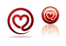 Heart-mail. Vector illustration of a mail heart. Can be easily colored and used in your design Royalty Free Stock Photo