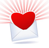 Heart and mailing envelope. Royalty Free Stock Image