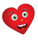 Heart Man Face stock photography