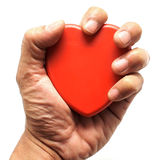 Heart in man hand Stock Photo