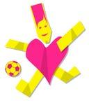 Heart man playing football Stock Photo