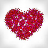 Heart of many small hearts. Vector art illustration love Valentine`s Day Royalty Free Stock Photos