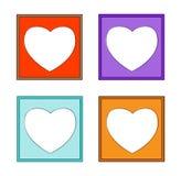 Heart-01 marco-colorido moderno Foto de archivo