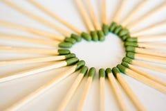 Heart match Stock Photo