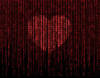 Heart matrix Royalty Free Stock Image