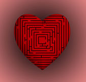 Heart Maze Royalty Free Stock Photo