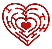 Heart maze. Vector illustration of a heart maze. Valentines Day theme Stock Images