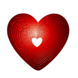 Heart maze icon Stock Image