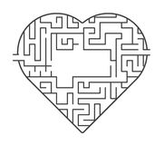 Heart maze illustration. find out of love concept. vector stock. Heart maze illustration. find out of love concept. vector stock Royalty Free Stock Photos