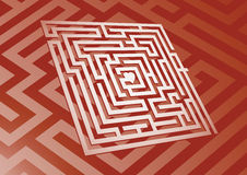 Heart Maze. A maze leading to a heart in the center vector illustration