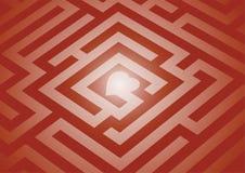 Heart Maze Royalty Free Stock Photo