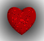 Heart Maze Stock Photos