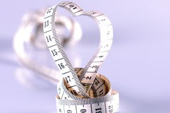 Heart by measurement Stock Photography