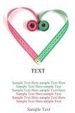 Heart measuring tape Stock Photos