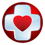 Heart medical cross. EPS 8 Royalty Free Stock Photo