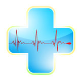 Heart medical cross. EPS 8 Stock Photo