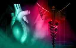 Heart with medical logo Stock Photos