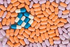 Heart and medication Royalty Free Stock Photos