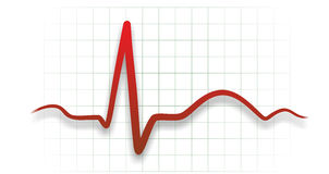 Heart medicine. Abstract illustration of a heartbeat from electrocardiograph Stock Images