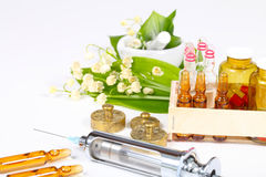 Heart medicine from lily of the valley stock photography