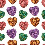 Heart medley potpourri pattern Stock Photography