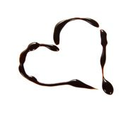 Heart from the melted chocolate Royalty Free Stock Images