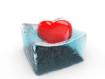 The heart is melting the ice Stock Photos