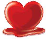 Heart melting Royalty Free Stock Image