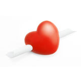 Heart with a Message Stock Image