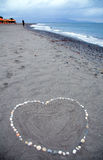 Heart message at the beach Stock Photo