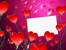 Heart Message Means Valentine Day And Correspond Royalty Free Stock Photos