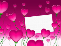 Heart Message Means Valentines Day And Communication Stock Photography