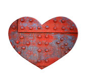 Heart of Metal. Heart made of metal with rivets Stock Images