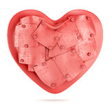 Heart with metal plate Stock Photo