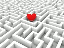 Heart in the middle of the maze Stock Images