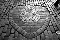 The Heart of Midlothian stock image