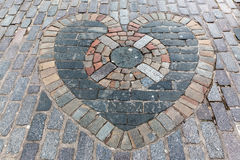 Heart of Midlothian mosaic in Edinburgh Stock Image