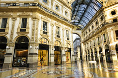 In the heart of Milan, Italy. Glass dome of Galleria Vittorio Emanuele in Milan, Italy Stock Image