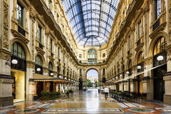In the heart of Milan, Italy. Glass dome of Galleria Vittorio Emanuele in Milan, Italy Stock Images