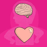 Heart and Mind in Person Stock Images
