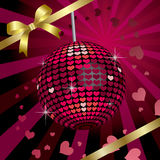 Heart Mirror Ball. This graphic is Heart Mirror Ball Stock Photography